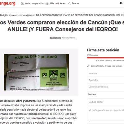 """""""ESTAMOS ANTE UN ATENTADO SUMAMENTE GRAVE"""": Recopilan firmas para pedir la anulación de la elección en Benito Juárez por compra de votos del PVEM"""