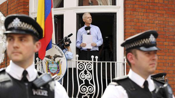 Cumple Julian Assange 4 años recluido en la embajada de Ecuador en el Reino Unido
