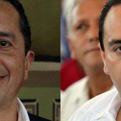 """""""ASÍ ES LA DEMOCRACIA"""": Difunde Vocería 'primer encuentro' entre Carlos Joaquín y el aún gobernador Roberto Borge; que hay """"disposición de diálogo"""", le dice"""