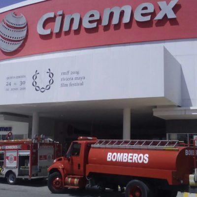 Conato de incendio en Cinemex de Centro Maya en Playa del Carmen