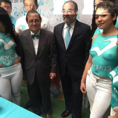 'BODY PAINT' ELECTORAL: Usa el Panal chicas en 'topless' para cierra de campaña