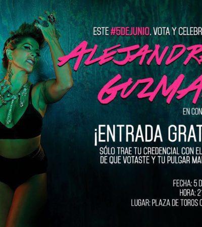 CONCIERTO GRATIS PARA VOTANTES: Alejandra Guzmán se presentará el domingo en Cancún con entrada libre para quienes acudan a las urnas