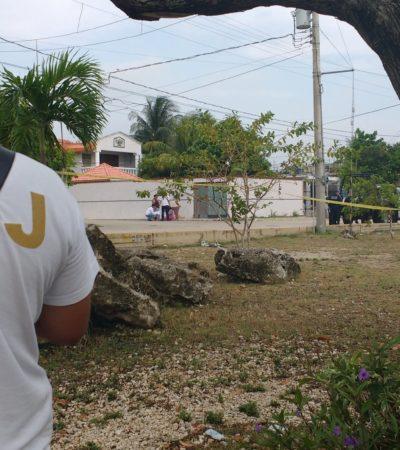 PRELIMINAR   REGRESA CANCÚN A LA VIOLENCIA COTIDIANA: Un día después de la elección, matan a padre e hijo durante un robo en la Región 230