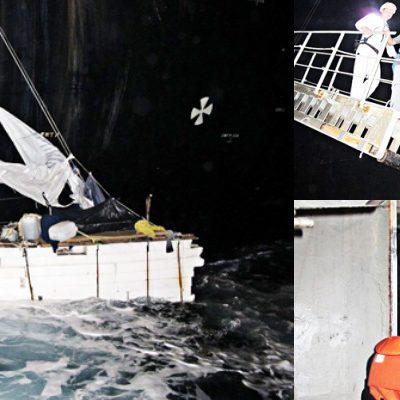 Rescatan en altamar a 10 cubanos a 203 kilómetros al Este de Isla Mujeres