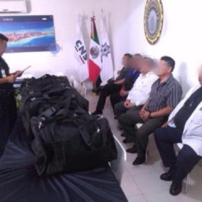 Encarcelan a los 5 hombres que intentaron volar con 40 mdp; dinero, de probable procedencia ilícita