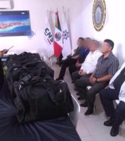 INTENTABAN SACAR 40 MDP DE QUINTANA ROO: Detienen en el aeropuerto de Cancún a 5 hombres con 8 maletas cargadas de dinero con rumbo a la CDMX