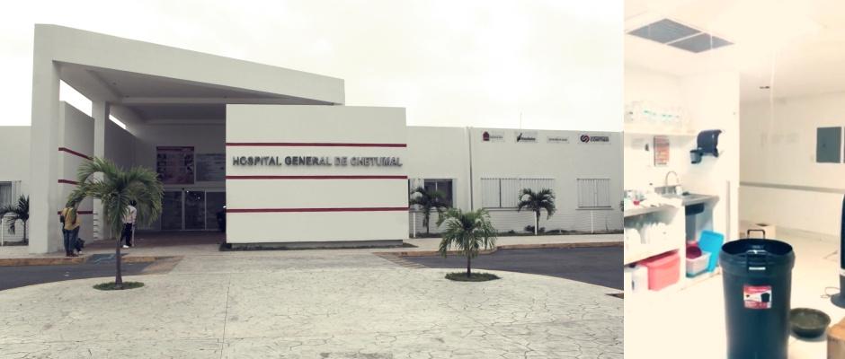 HACE AGUA EL HOSPITAL GENERAL DE CHETUMAL: Pese a millonaria inversión para remodelación, la lluvia exhibe deficiencias y el nosocomio se inunda