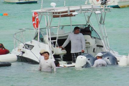 Se hunden 10 embarcaciones durante las lluvias del fin de semana en Isla Mujeres