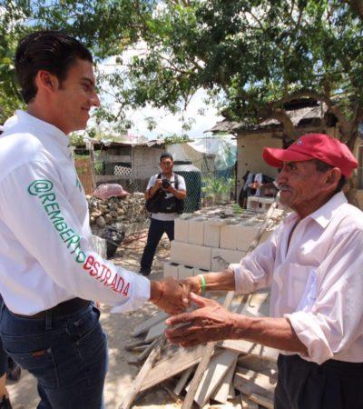 Ofrece Remberto Estrada menos trámites en los primeros 100 días de gobierno en BJ