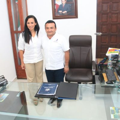 INICIARÁ PUERTO MORELOS CON CERO DEUDAS: Se reúne Laura Fernández con Leonel Medina para acordar la transición
