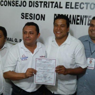 Dan constancia de mayoría al panista Fernando Zelaya como diputado electo por el Distrito XIV