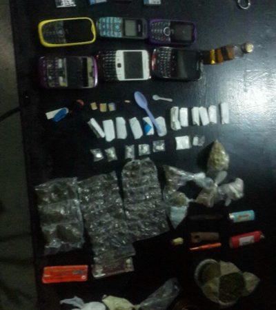 Hallan más drogas y artículos prohibidos en segunda revisión al hilo en la cárcel de Cancún