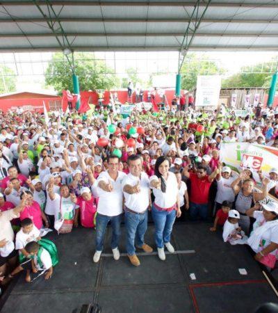 Cierra campaña Laura Fernández en Puerto Morelos segura del triunfo el próximo 5 de junio