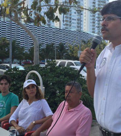 Respalda candidato independiente de Puerto Morelos lucha de los defensores del Malecón Tajamar