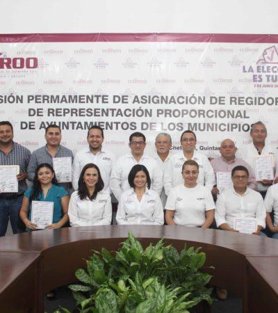REPARTE IEQROO REGIDURÍAS 'PLURIS': Entregan constancias de mayoría a integrantes de los nuevos cabildos municipales de Quintana Roo