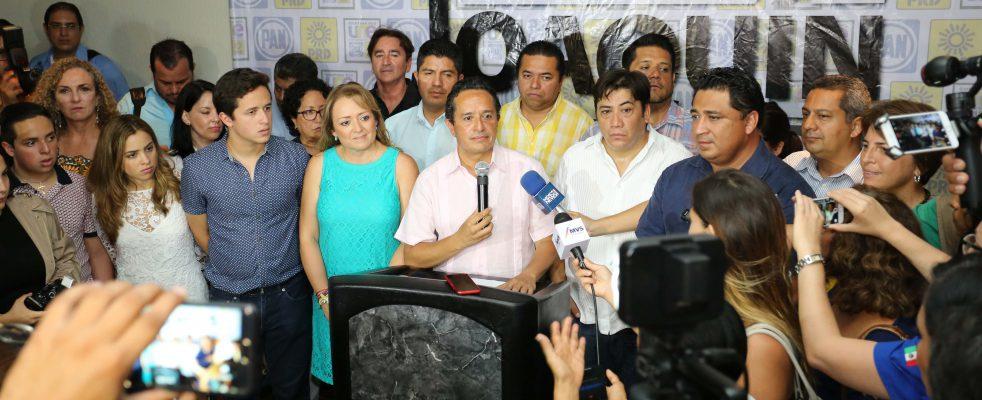"""""""GANÓ EL CAMBIO… QUIERO ESTAR A LA ALTURA DE QR"""": Ofrece Carlos Joaquín """"ser un gobernador serio, disciplinado, responsable y que cumpla"""""""