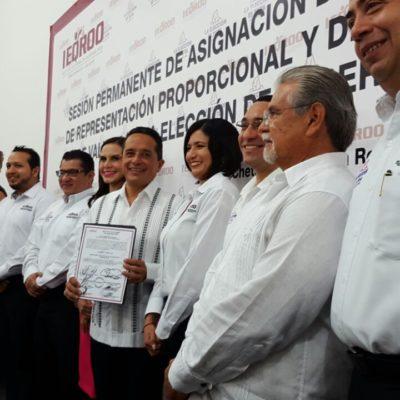 ES CARLOS JOAQUÍN GOBERNADOR ELECTO: Entregan en Chetumal constancia de mayoría al candidato de la alianza PAN-PRD tras la histórica elección en QR