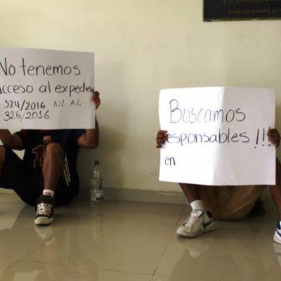 Protestan en juzgados de Playa del Carmen ex trabajadores de hoteles por desalojos en Tulum