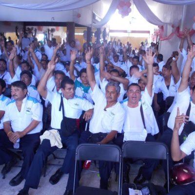 RECHAZAN 'SINDICATO BLANCO' BORGISTA EN TURICÚN: En elección interna, ratifican voto de confianza a líder Erick Valenzuela Cruz