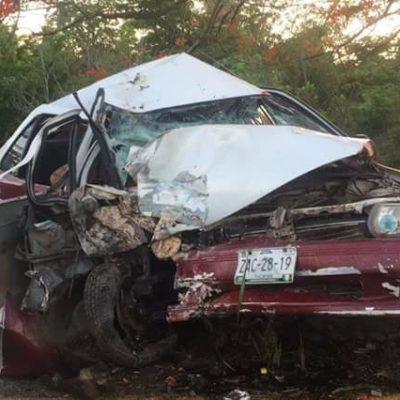Un muerto y un herido en accidente carretero en FCP por presunto pestañazo