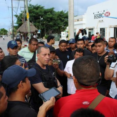 TERMINA PARO DE POLICÍAS EN TULUM: Logran aumento salarial del 20% y el cese de cuestionado mando policiaco