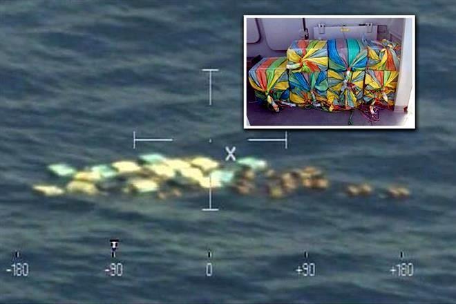Incauta Marina 900 kilos de cocaína flotando frente a costas de Chiapas