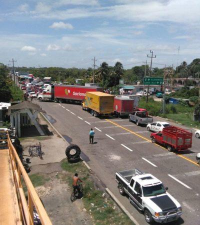 VILLAHERMOSA, BAJO ASEDIO: Al menos 5 bloqueos carreteros provocan caos para entrar o salir de la capital de Tabasco