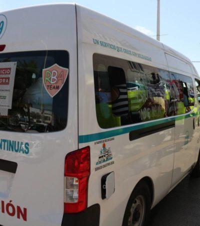Aumentan tarifas en el servicio de transporte urbano en Playa del Carmen