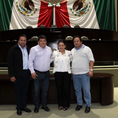 SE REÚNE LUIS TORRES CON DIPUTADA FEDERAL: Ivanova Pool se compromete a impulsar el desarrollo del sur de Quintana Roo