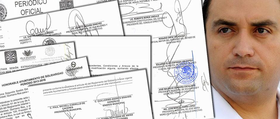 LOS PAPELES DE AGUAKÁN | PASO A PASO, LA PRIVATIZACIÓN DEL AGUA: En sólo 38 días y a cambio de 1,055 mdp, Borge vendió a DHC el futuro de 3 municipios de QR; después de año y medio, no hay pistas del dinero recibido