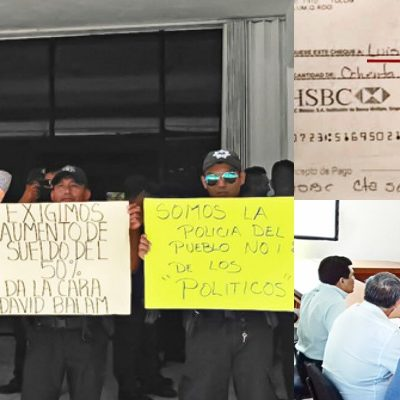 DOS DÍAS DE PARO POLICIACO EN TULUM: Exhiben agentes pagos a jefe policiaco, mientras la tropa carece de todo por supuesta falta de dinero en la comuna