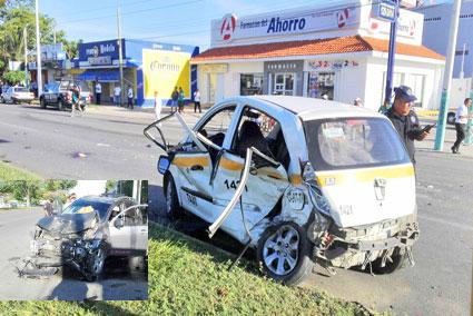TRAGEDIA EN CHETUMAL: Conductor de camioneta choca en la Insurgentes contra taxi y mata a niño de 4 años; dos heridos graves