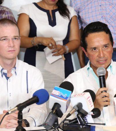 """CON BLINDAJE O SIN BLINDAJE, BORGE SERÁ AUDITADO: Diálogo """"está roto"""" con Gobernador, dice Carlos Joaquín; están desapareciendo documentos, acusa"""