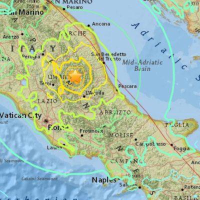 """""""EL PUEBLO DE AMATRICE YA NO ESTÁ AQUÍ"""": Golpea terremoto de 6.2 grados Richter centro de Italia; al menos 73 muertos y decenas de desaparecidos"""