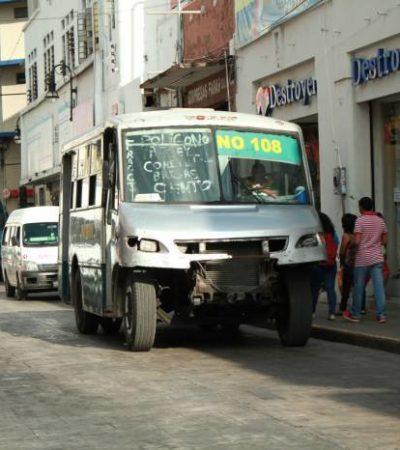 ANTICIPAN GOLPE AL BOLSILLO: Analizan incremento a las tarifas del transporte urbano en Mérida