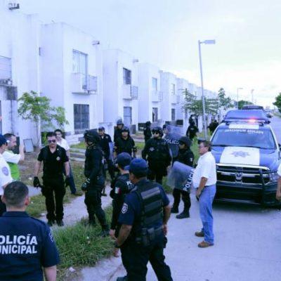 Desalojan las invadidas Villas del Arte en Cancún