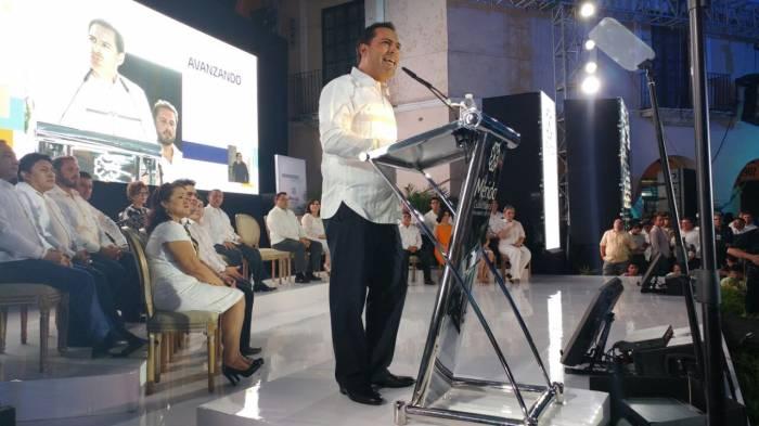 Presenta Mauricio Vila primer informe al frente de la Alcaldía de Mérida
