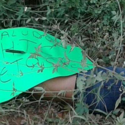 Ejecutan a un hombre en Jalapa y le dejan narcomensaje