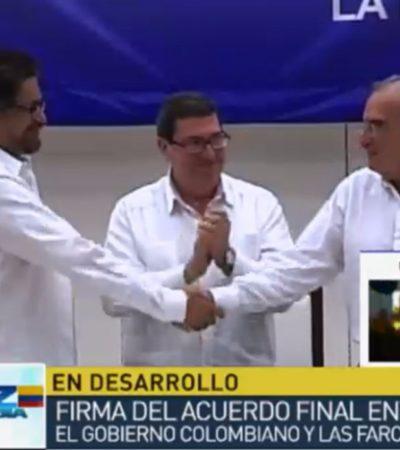 FIRMAN LA PAZ PARA COLOMBIA: Gobierno y las FARC oficializan en Cuba histórico acuerdo para terminar medio siglo de enfrentamientos