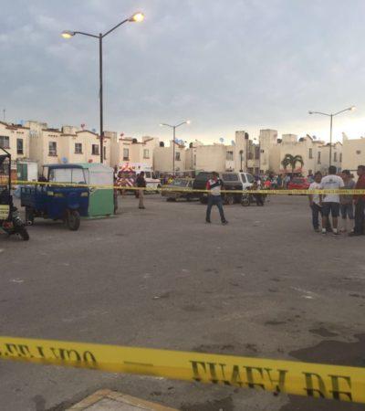 TARDE DE BALAZOS EN CANCÚN: Un ejecutado en Villas Otoch Paraíso y 2 taxistas heridos en la Regiones 59 y 219