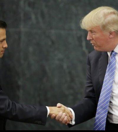 LA ESPERPÉNTICA REUNIÓN PEÑA-TRUMP: No ceja candidato de EU en construir muro; los insultos son 'malentendidos', dice Presidente