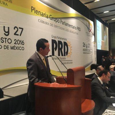 Pide Carlos Joaquín apoyo a legisladores del PRD para Quintana Roo