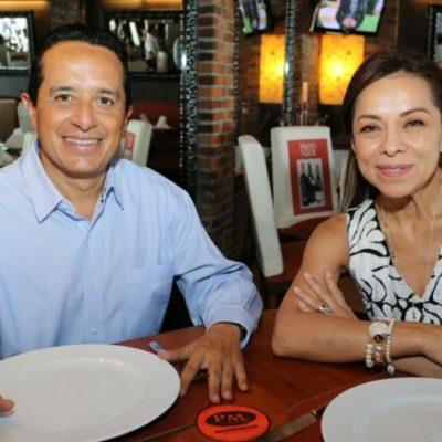 REUNIÓN EN CANCÚN: Da Josefina Vázquez Mota espaldarazo a Carlos Joaquín