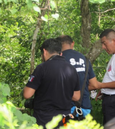 HALLAN A HOMBRE ASESINADO EN EN CENOTE DE VALLADOLID: Presumen que víctima es un ex alcalde de Chikindzonot