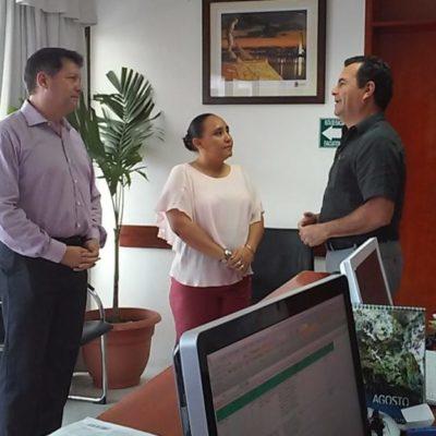 LE METEN PRESIÓN A 'RAFA' CASTRO: Acude Cristina Torres al despacho del Alcalde de Solidaridad para pedir que nombre ya al comité de entrega-recepción