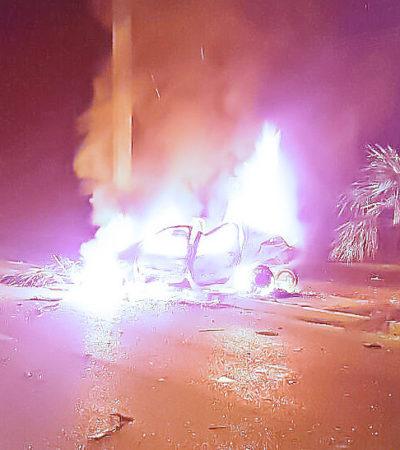 TRÁGICOS ACCIDENTES EN LA CARRETERA: Mueren un hombre, una mujer y un niño en dos aparatosos percances entre Puerto Morelos y Puerto Aventuras