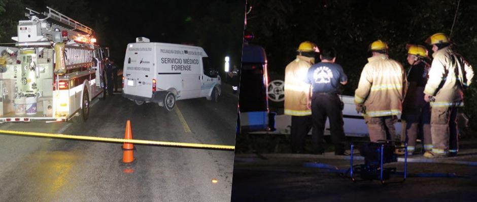 TRAGEDIA POR ALCOHOL EN COZUMEL: Mueren 3 jóvenes en aparatoso accidente al volcarse y salirse de la carretera un auto en la Costera Sur