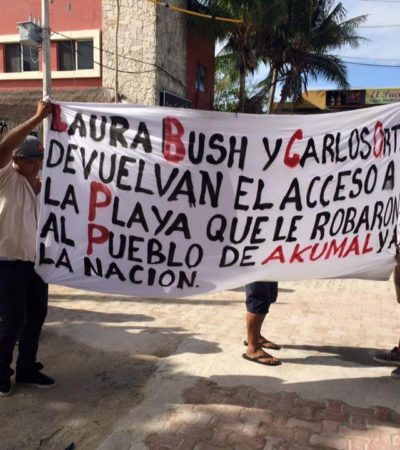 Aprueba Cabildo de Tulum reabrir acceso al mar en Akumal incluso con la fuerza pública; CEA respinga