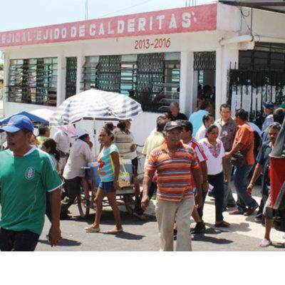 Arrecian las presiones en el ejido Calderitas por conflicto con la actual directiva; insisten en cambio