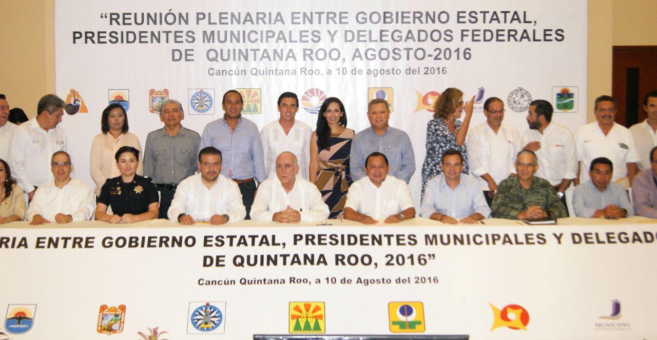 REUNIÓN DE DELEGADOS FEDERALES CON NUEVOS ALCALDES: Laura Fernández busca aterrizar primeros proyectos para Puerto Morelos